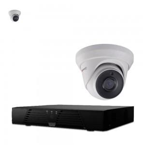 HiWatch 4 Ch 1080P Lite DVR & 2 X THC-T220 IP66 40m IR,Turret Dome CCTV Camera Kit