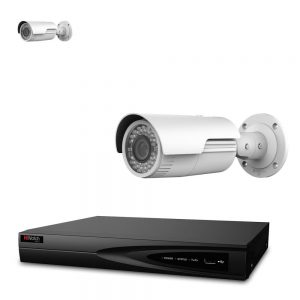HiWatch By Hikvision 2 X 4MP Network Motorised Varifocal Bullet IP67 IP POE NVR CCTV System