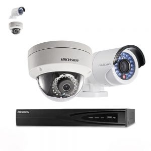 Hikvision 4 x 4 Megapixel IP PoE 4MM IP66 Cameras & 4 Channel 8MP POE NVR CCTV Kit