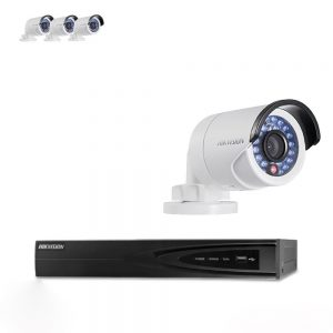 Hikvision 4 x 4MP IP PoE 4MM Compact Bullet Camera