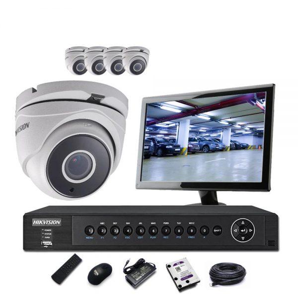 Hikvision 8 Channel 5MP HDTVI DVR & 5 Hikvision 5MP Dome Camera CCTV Kit