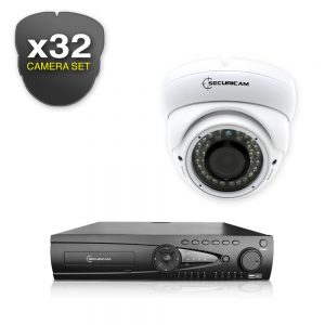 Securicam DVR AHD 720P 32Ch CCTV Kit with 32 AHD 720P Cameras
